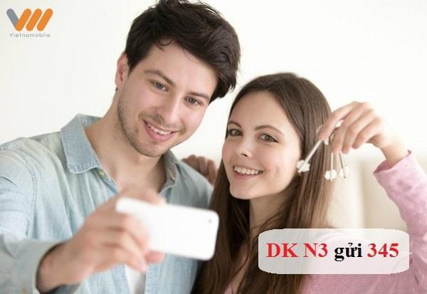 Cú pháp DK N3 gửi 345 để đăng ký gói N3