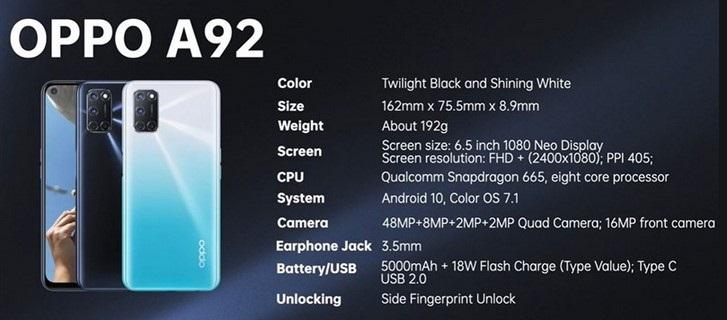 Oppo A92 có pin dùng rất bền