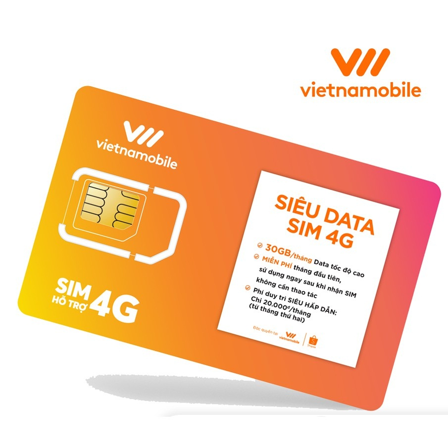 Siêu sim 4G của Vietnamobile